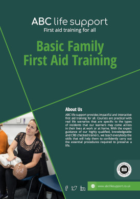Basic Family First Aid Training Course Brochure