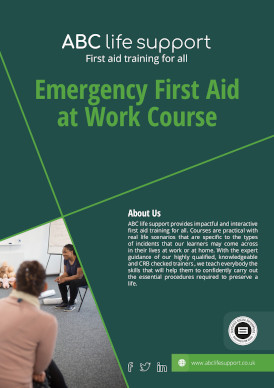 Emergency First Aid At Work Course Brochure
