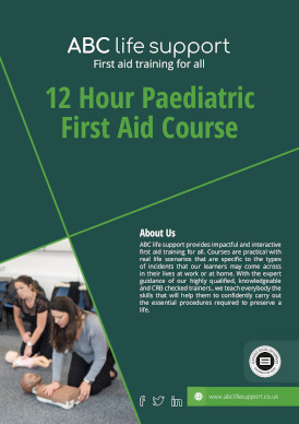 12 Hour Paediatric First Aid Course Brochure