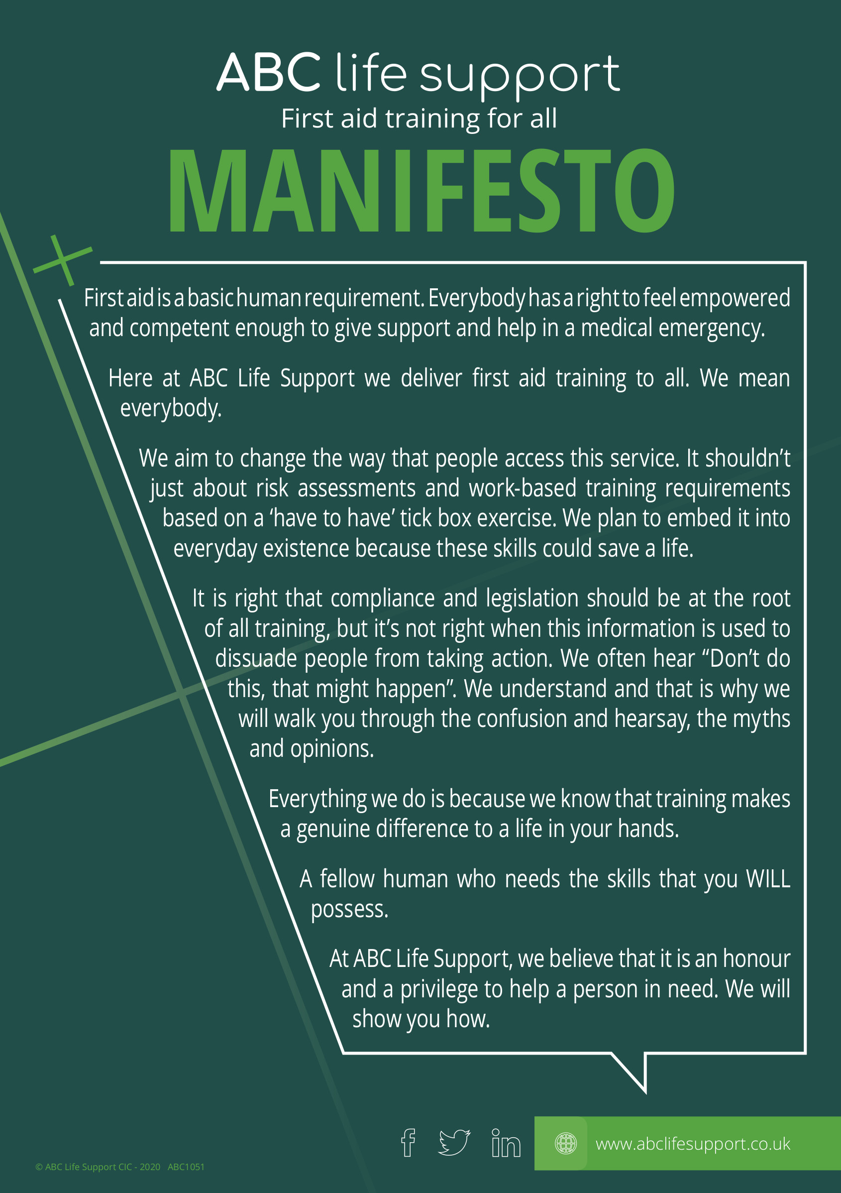 ABC Life Support CIC Manifesto
