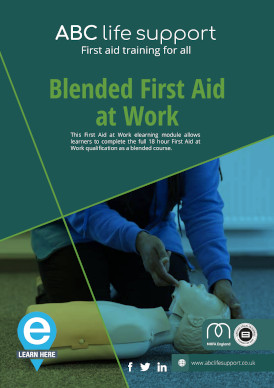 Blended First Aid at Work e-course brochure