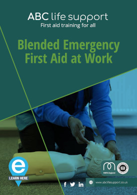 Blended Emergency First Aid at Work e-course brochure
