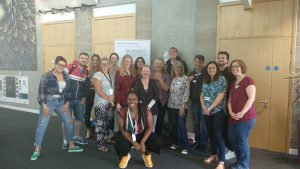 Danielle with a group of mental health first aid course participants from Allia Future Business Centre