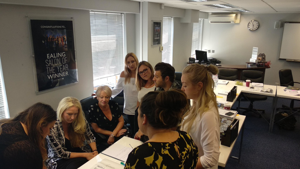 Team at Headmasters taking part in Mental Health First Aid training