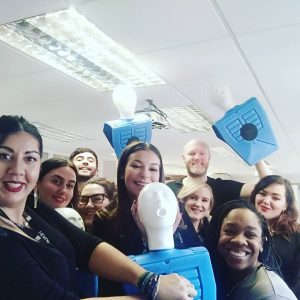 Headmasters UK staff on a training course with Danielle Bridge from ABC Life Support CIC